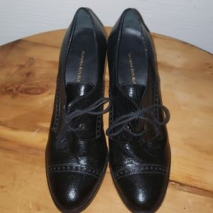 New banana republic high heel oxford shoes